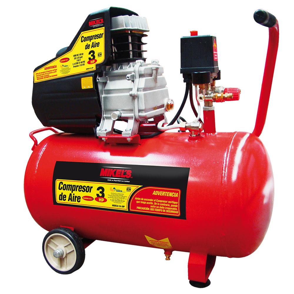 Compresor de aire 3 hp 1700 w 3400 rpm mikels mexico for Compresor hidroneumatico