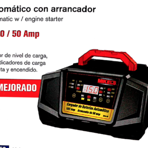 CARGADOR BATERIAS AUTOMATICO CON ARRANCADOR 2/10/50 Amp