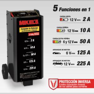 CARGADOR BATERIAS CON ARRANCADOR Y PROBADOR 2/10/50/125/225 Amp