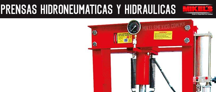 Prensas hidroneumáticas y hidráulicas